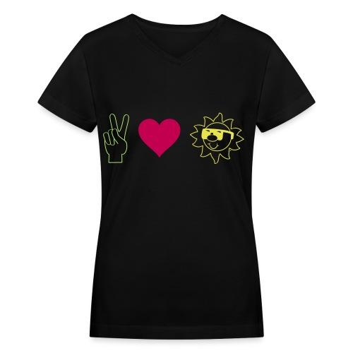 Peace.Love.CRU - Women's V-Neck T-Shirt