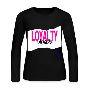 lady's LOYALTY PLEASE WHITE - Women's Long Sleeve Jersey T-Shirt