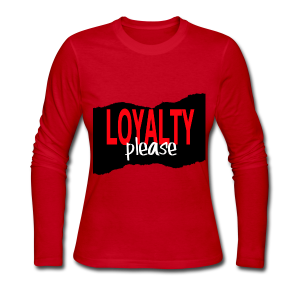 lady's LOYALTY PLEASE BLACK - Women's Long Sleeve Jersey T-Shirt