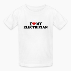 I love my Electrician Kids' Shirts
