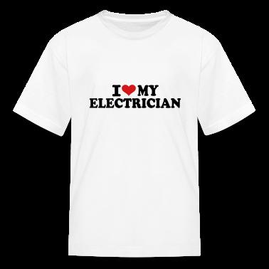 I love my Electrician Kids' Shirts
