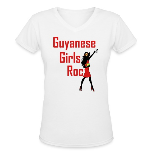Guyana Women's Short Sleeve T-Shirt - Women's V-Neck T-Shirt