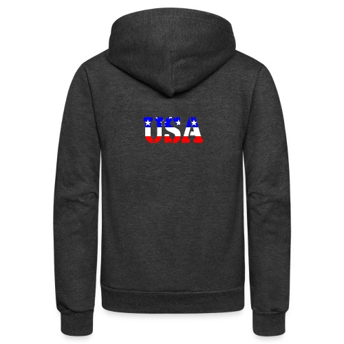 USAts USA stars stripes - Unisex Fleece Zip Hoodie