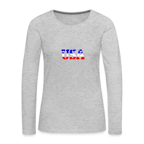 USAts USA stars stripes - Women's Premium Long Sleeve T-Shirt