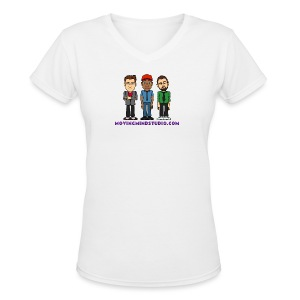 Women's V-Neck T-Shirt - Less expensive than a wedding dress.
