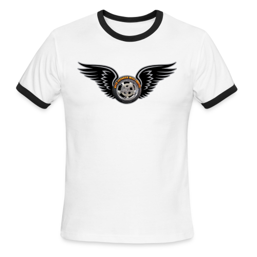 Men's L/W Ringer T-Front-HwingVoy - Men's Ringer T-Shirt