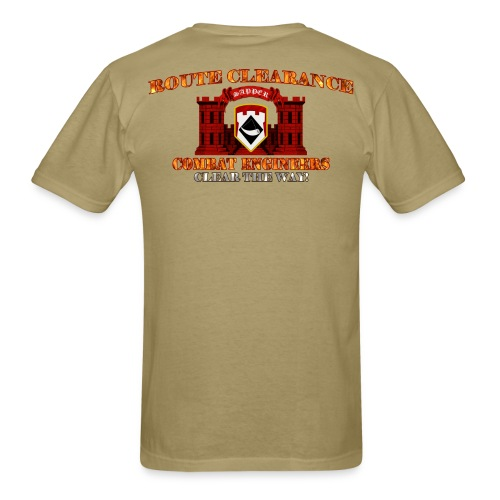 111th En Bde - RC Sapper Back Only - Men's T-Shirt