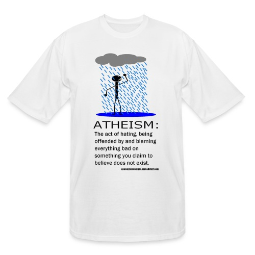 Atheism Defined - Men's Tall T-Shirt