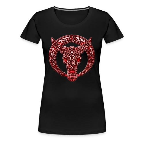 Red Celtic Bull Celtic Knots Shirt - Women's Premium T-Shirt