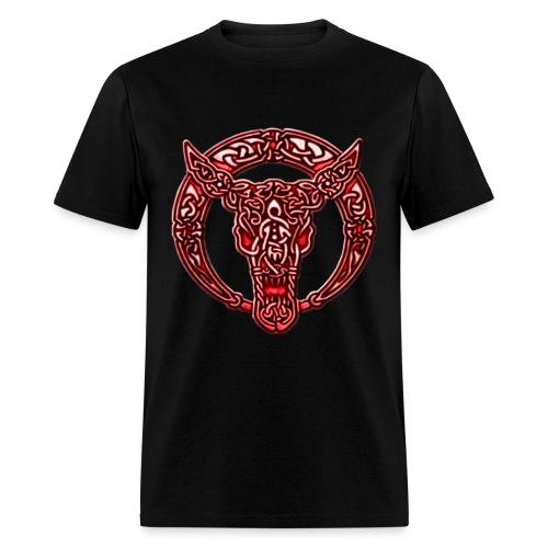 Red Celtic Bull Celtic Knots Shirt - Men's T-Shirt