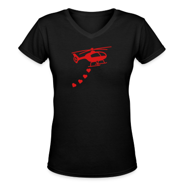 Army Helicopter Bombing Love Women's T-Shirts