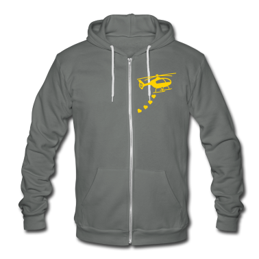 Army Helicopter Bombing Love Zip Hoodies/Jackets