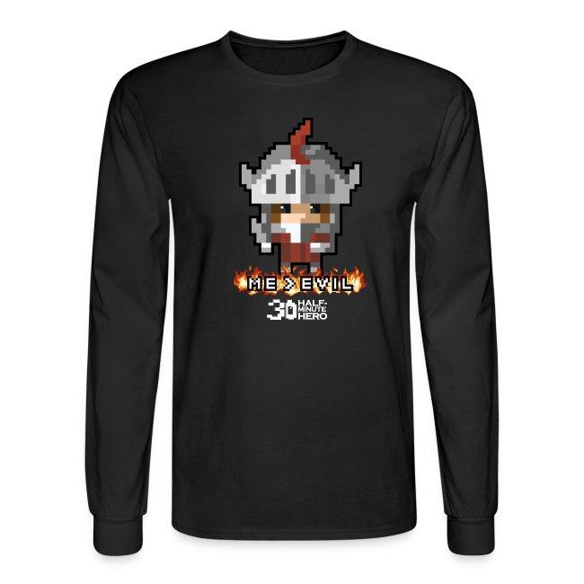 """Me v EVIL"" Knight Men's Long-Sleeve T-Shirt"