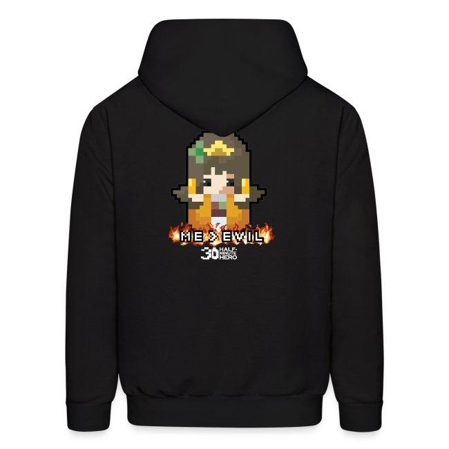 """""""ME v EVIL"""" Princess hoodie"""