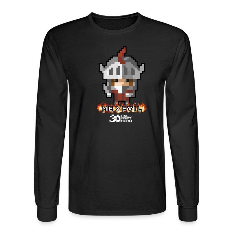 ME v EVIL Men's Long-sleeve T-Shirt - Men's Long Sleeve T-Shirt
