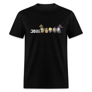 Half Minute Hero row of main characters with logo Men's T-shirt - Men's T-Shirt