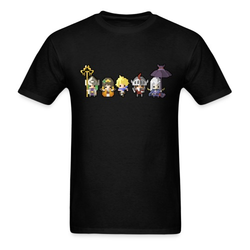 Half Minute Hero row of main characters Men's T-shirt - Men's T-Shirt