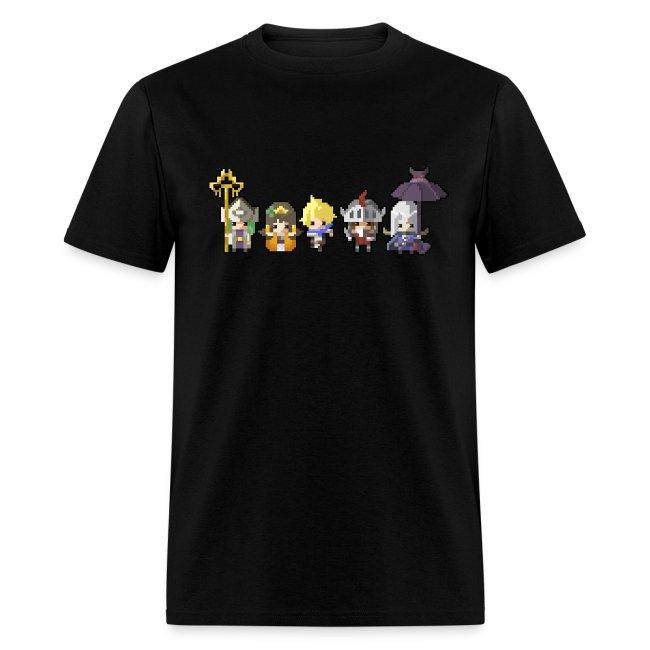 Half Minute Hero row of main characters Men's T-shirt