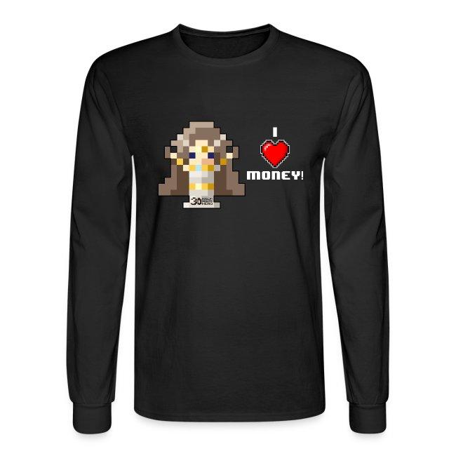 Time Goddess - I (HEART) Money! Men's Long Sleeve T-shirt