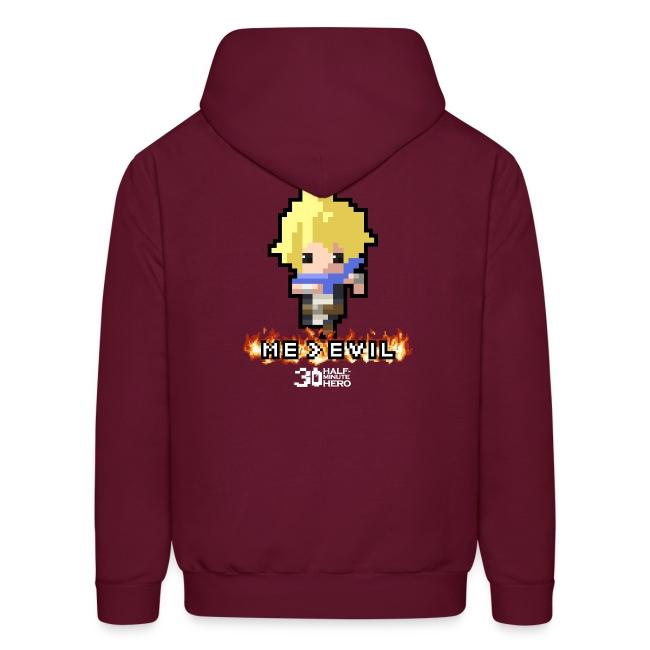 """""""ME v EVIL"""" Hero Men's hoodie"""