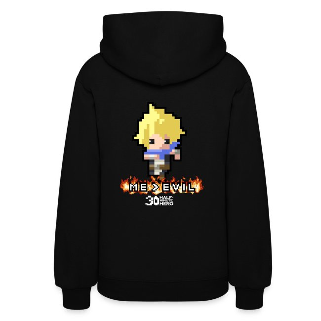 """""""ME v EVIL"""" Hero Women's hoodie"""