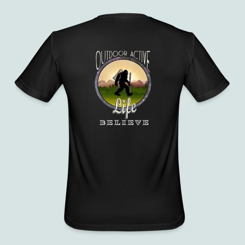 Men's BIGFOOT BELIEVE OutdoorActiveLife Moisture Wicking Performance T-Shirt - Men's Moisture Wicking Performance T-Shirt