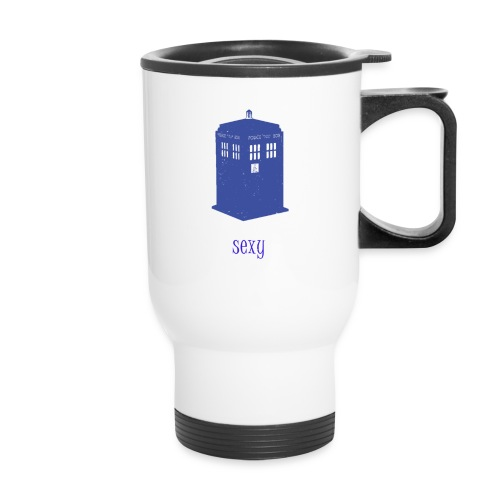 Sexy TARDIS - Doctor Who | Robot Plunger - Travel Mug
