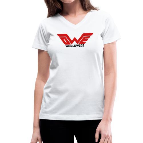 [WOMEN] OWE WORLDWIDE (V-Neck) - Women's V-Neck T-Shirt