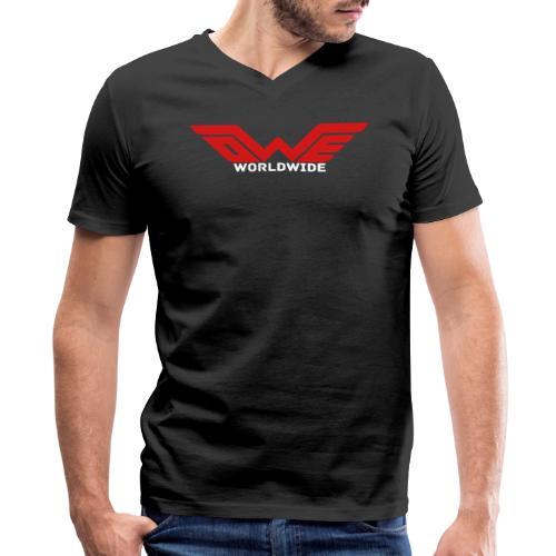 [MEN] OWE WORLDWIDE (V-Neck) - Men's V-Neck T-Shirt by Canvas