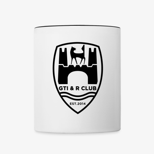 GTI & R Owners Club Coffee Mug - Black Logo - Contrast Coffee Mug