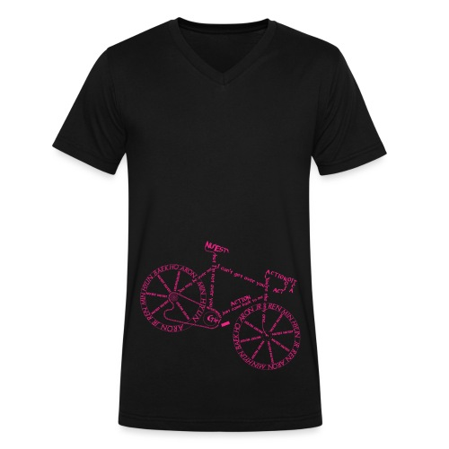 Action Bicycle - Men's V-Neck T-Shirt by Canvas