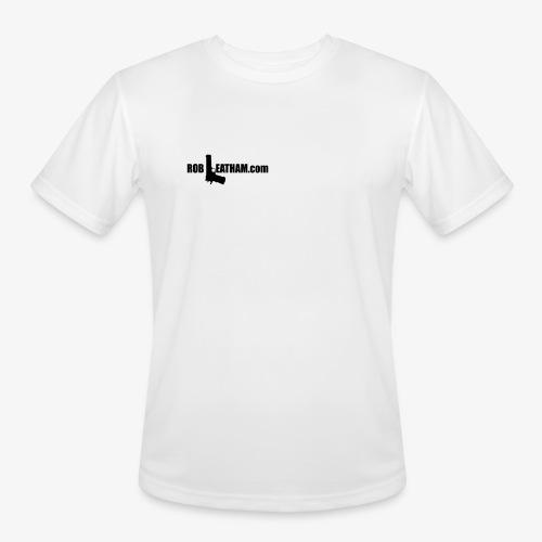 Way of Life - Men's Moisture Wicking Performance Tee - BLACK Logo - Men's Moisture Wicking Performance T-Shirt