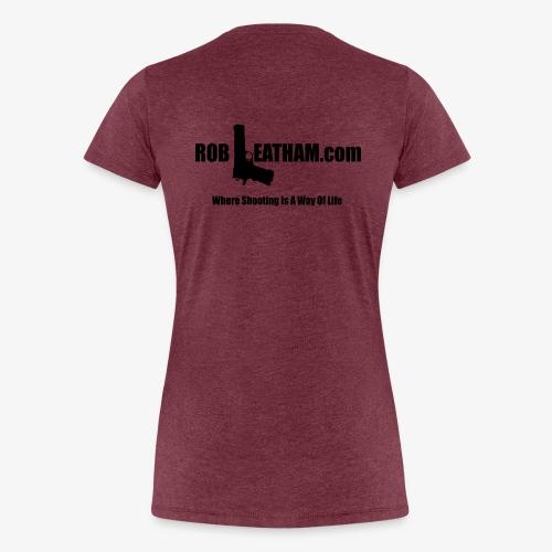 Way of Life - Women's Premium Tee with BLACK Logo - Women's Premium T-Shirt