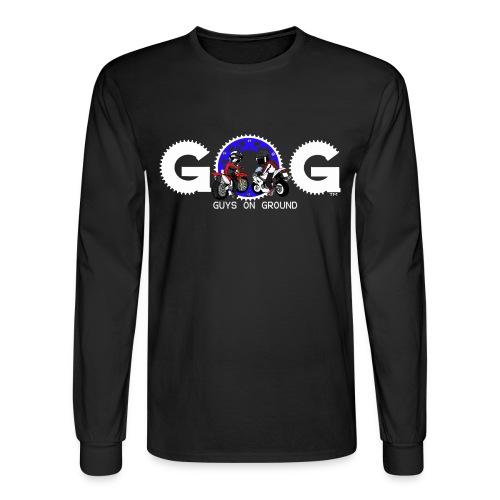 G.O.G MENS LONG SLEEVE  WHITE LOGO - Men's Long Sleeve T-Shirt