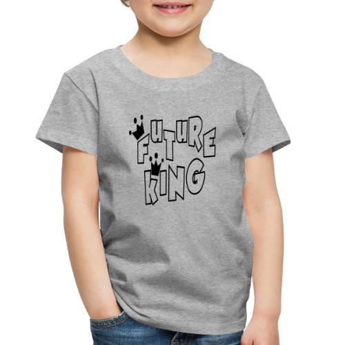 Future King Toddler Heather Gray Premium T-shirt - Toddler Premium T-Shirt