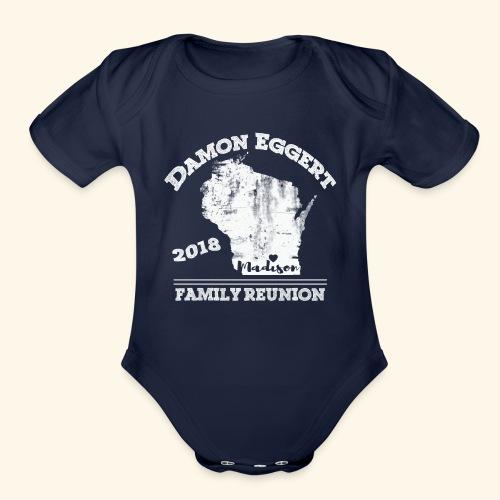 Damon Eggert Family Reunion 2018 - Organic Short Sleeve Baby Bodysuit