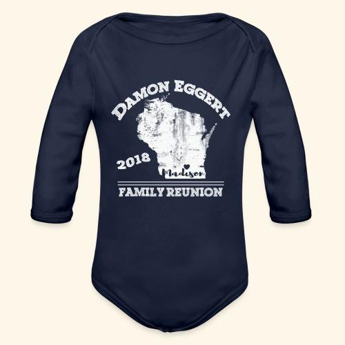 Damon Eggert Family Reunion 2018 - Organic Long Sleeve Baby Bodysuit