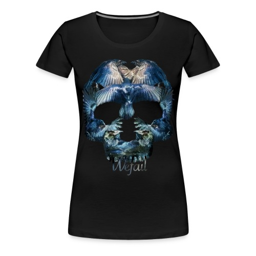 Crow Skull (women's fit) - Women's Premium T-Shirt