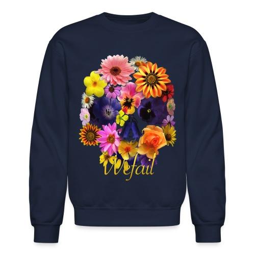 Flower Skull Sweatshirt - Crewneck Sweatshirt