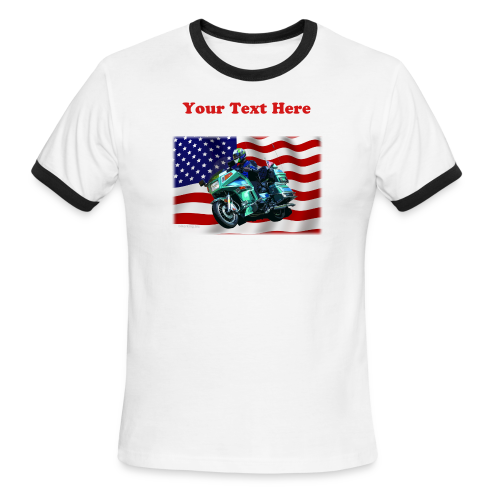 Men's L/W Ringer T-Front-FlagVyTl - Men's Ringer T-Shirt