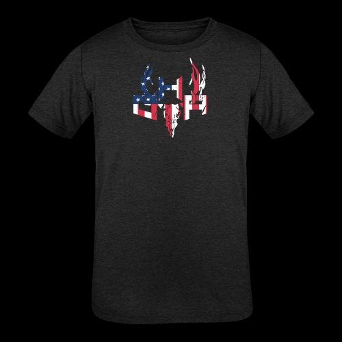 Kids Flag - Kids' Tri-Blend T-Shirt