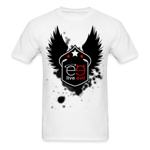 Live Evil Shield Logo (White) - Men's T-Shirt