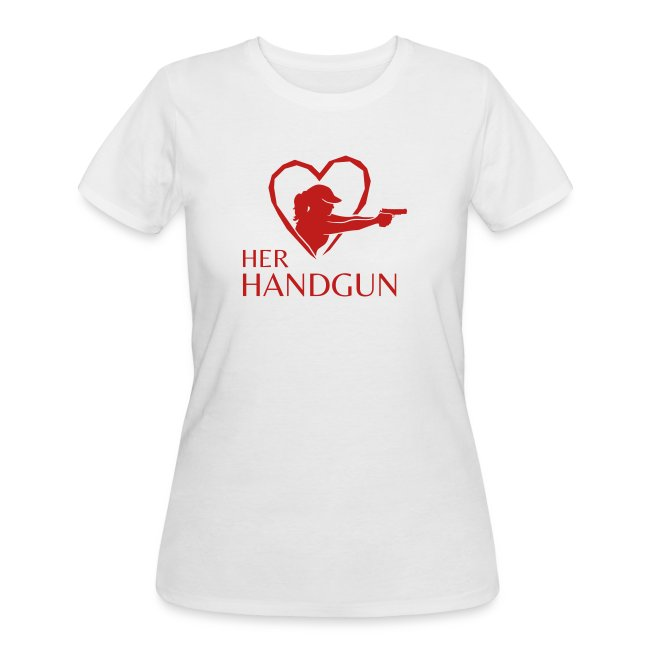 Women's Premium Tee With SPARKLY RED Logo