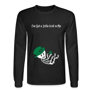 A Little Irish in Me Skeleton (non-maternity shirt) - Men's Long Sleeve T-Shirt
