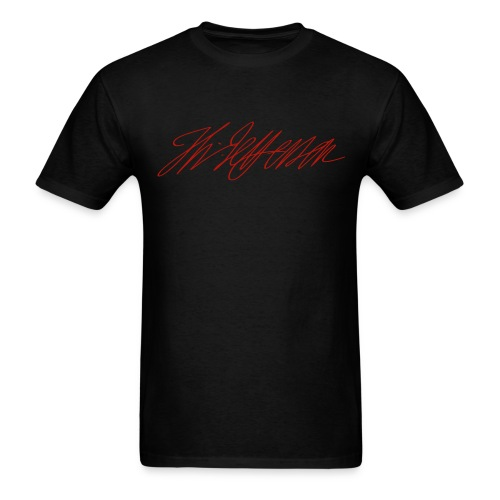 Red Shimmer Thomas Jefferson Signature Tee - Men's T-Shirt