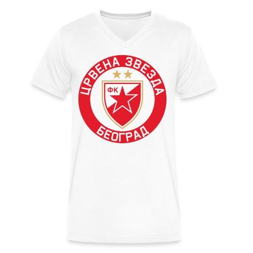 Crvena Zvezda - Men's V-Neck T-Shirt by Canvas