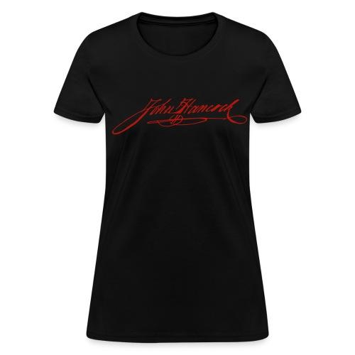 Red Shimmer John Hancock Signature Tee - Women's T-Shirt