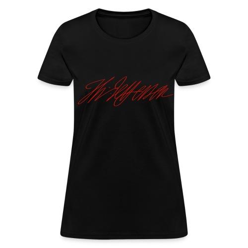 Red Shimmer Thomas Jefferson Signature Tee - Women's T-Shirt