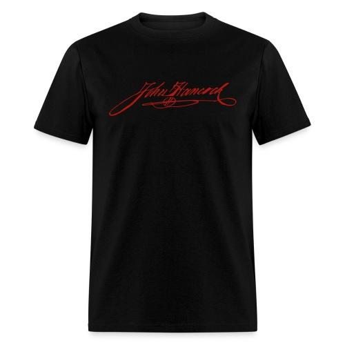 Red Shimmer John Hancock Signature Tee - Men's T-Shirt