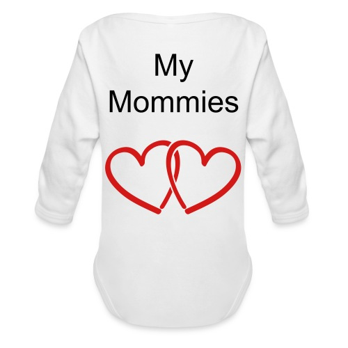 I heart my mommies   - Organic Long Sleeve Baby Bodysuit